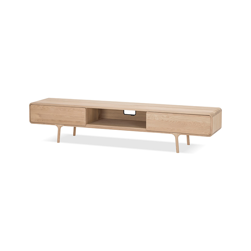 Gazzda Fawn Lowboard in Solid Oak by Salih Teskeredzic Olson and Baker - Designer & Contemporary Sofas, Furniture - Olson and Baker showcases original designs from authentic, designer brands. Buy contemporary furniture, lighting, storage, sofas & chairs at Olson + Baker.